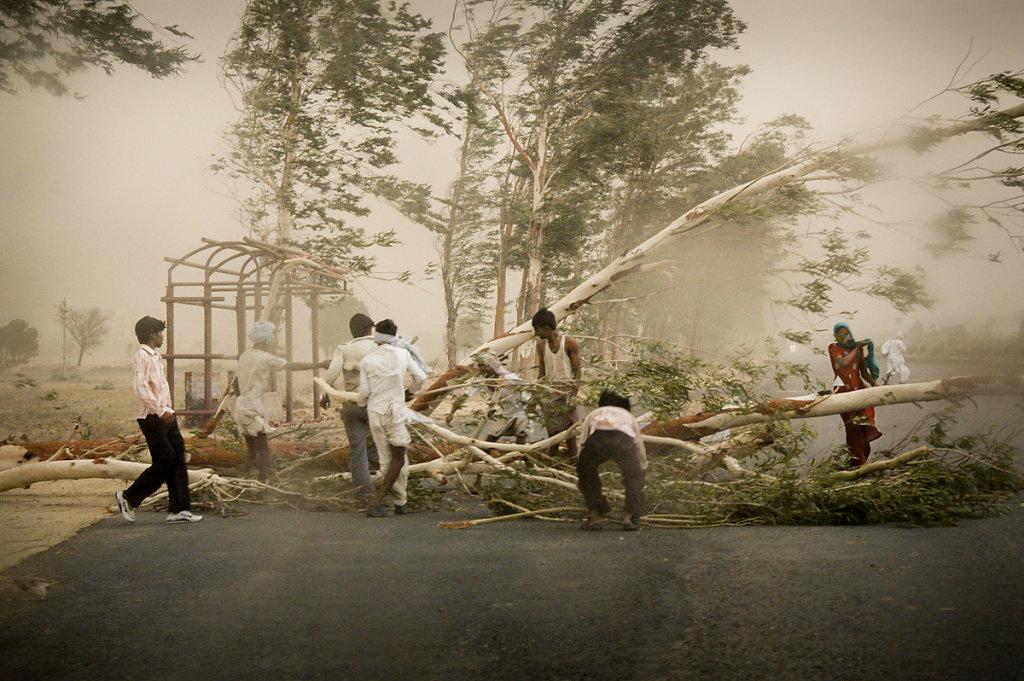 Au nord de l'Inde / 2008 / La tempête