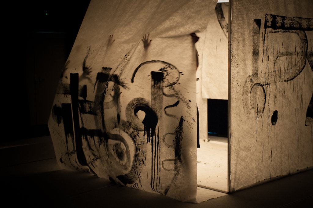 """""""Empreinte"""", une oeuvre éphémère qui propose un dialogue entre Danse et Architecture - 2017"""