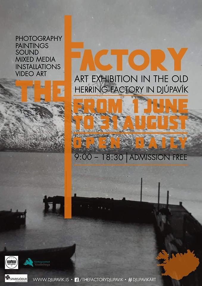 The Factory Art Exhibition 2018 / Poster by Emilie Morkeberg Dalum