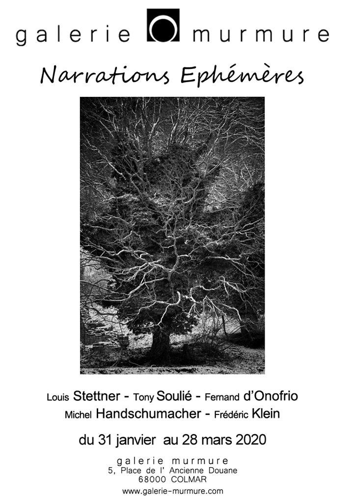 01 - NARRATIONS EPHEMERES - Galerie Murmure 2020